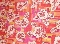 Hawaiian Orange Tropical 50/50 fabric