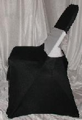 Black Lycra Chair Cover Rental $3 Rental